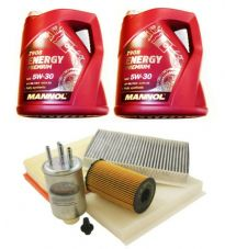 LAND ROVER DISCOVERY 3 2.7 TDV6 04>06 FILTER KIT, OIL/FUEL/AIR 10L MANNOL OIL